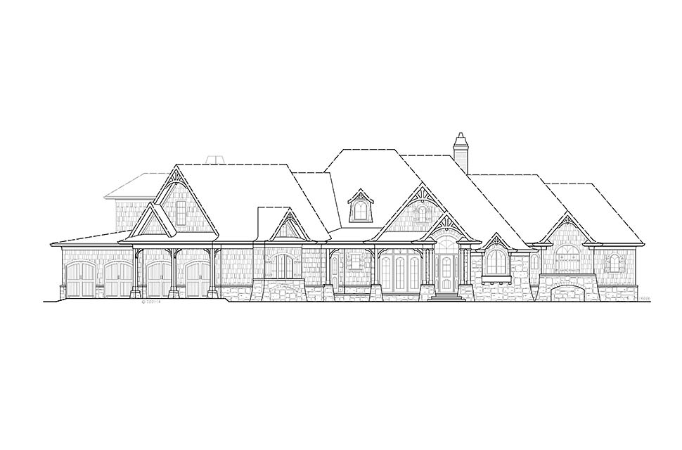 Craftsman House Plan 97636 with 4 Beds, 4 Baths, 4 Car Garage Picture 1