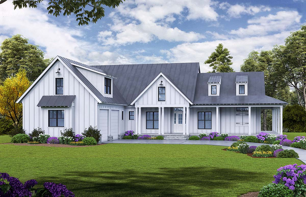 Farmhouse , Ranch , Elevation of Plan 97638