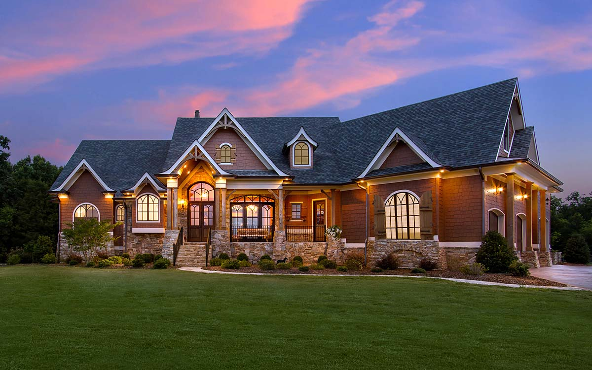 Craftsman, Tuscan House Plan 97640 with 3 Beds, 4 Baths, 2 Car Garage Elevation