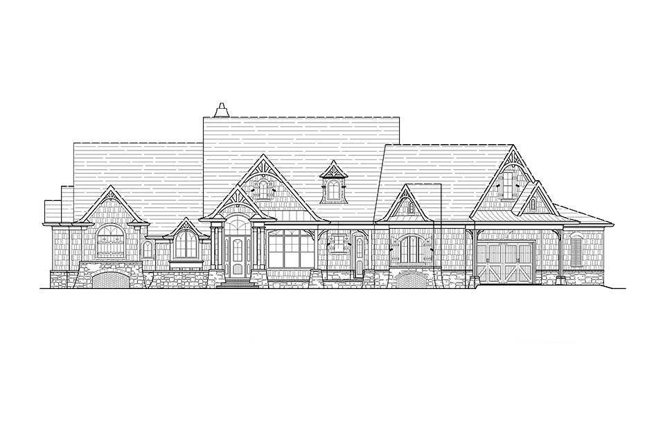 Craftsman, Tuscan House Plan 97640 with 3 Beds, 4 Baths, 2 Car Garage Picture 1