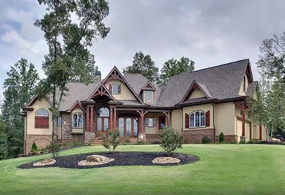 Craftsman, Tuscan House Plan 97640 with 3 Beds, 4 Baths, 2 Car Garage Picture 2