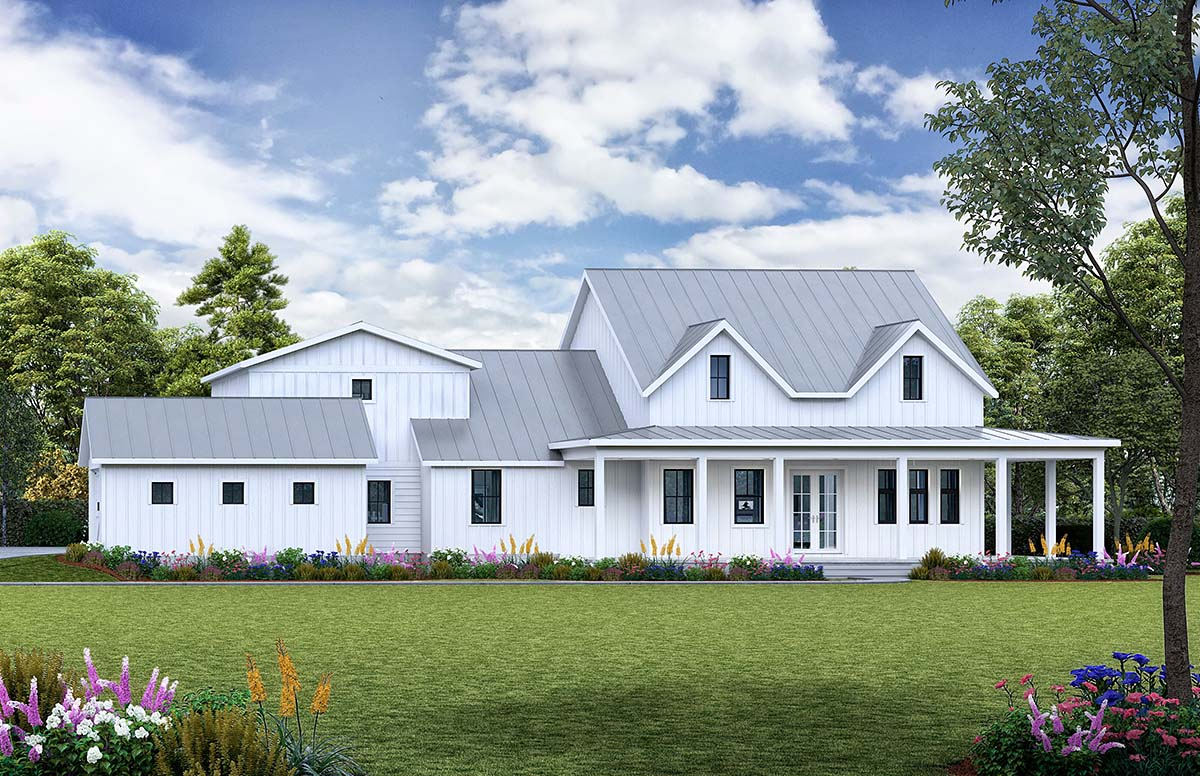 Country, Farmhouse, Modern, Southern House Plan 97642 with 3 Beds, 3 Baths, 3 Car Garage Elevation