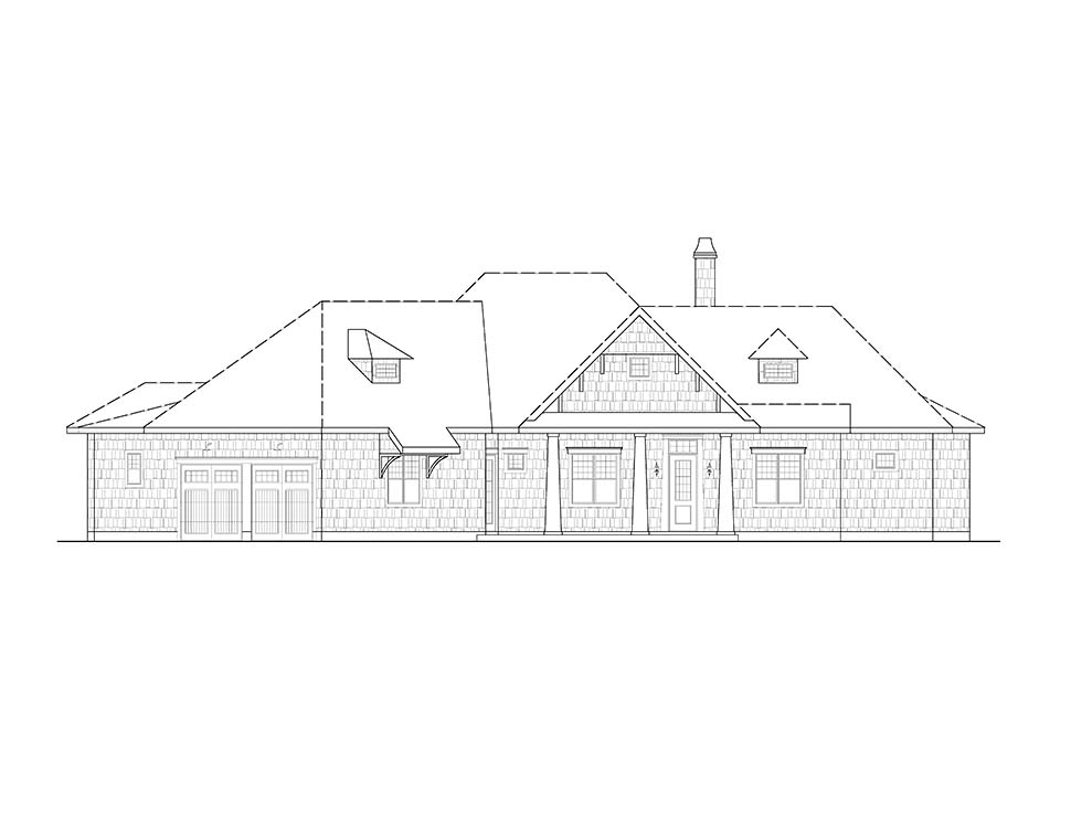 Coastal, Cottage, Craftsman House Plan 97645 with 3 Beds, 3 Baths, 2 Car Garage Picture 1