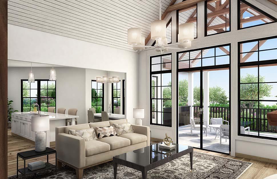 Coastal, Cottage, Craftsman House Plan 97645 with 3 Beds, 3 Baths, 2 Car Garage Picture 2