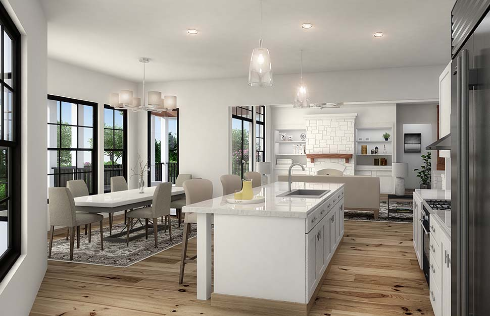 Coastal, Cottage, Craftsman House Plan 97645 with 3 Beds, 3 Baths, 2 Car Garage Picture 3