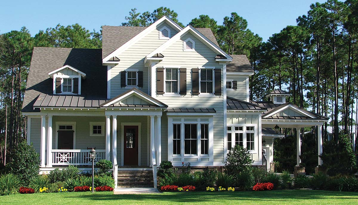 Coastal, Cottage, Southern, Traditional House Plan 97664 with 3 Beds , 4 Baths , 2 Car Garage Elevation