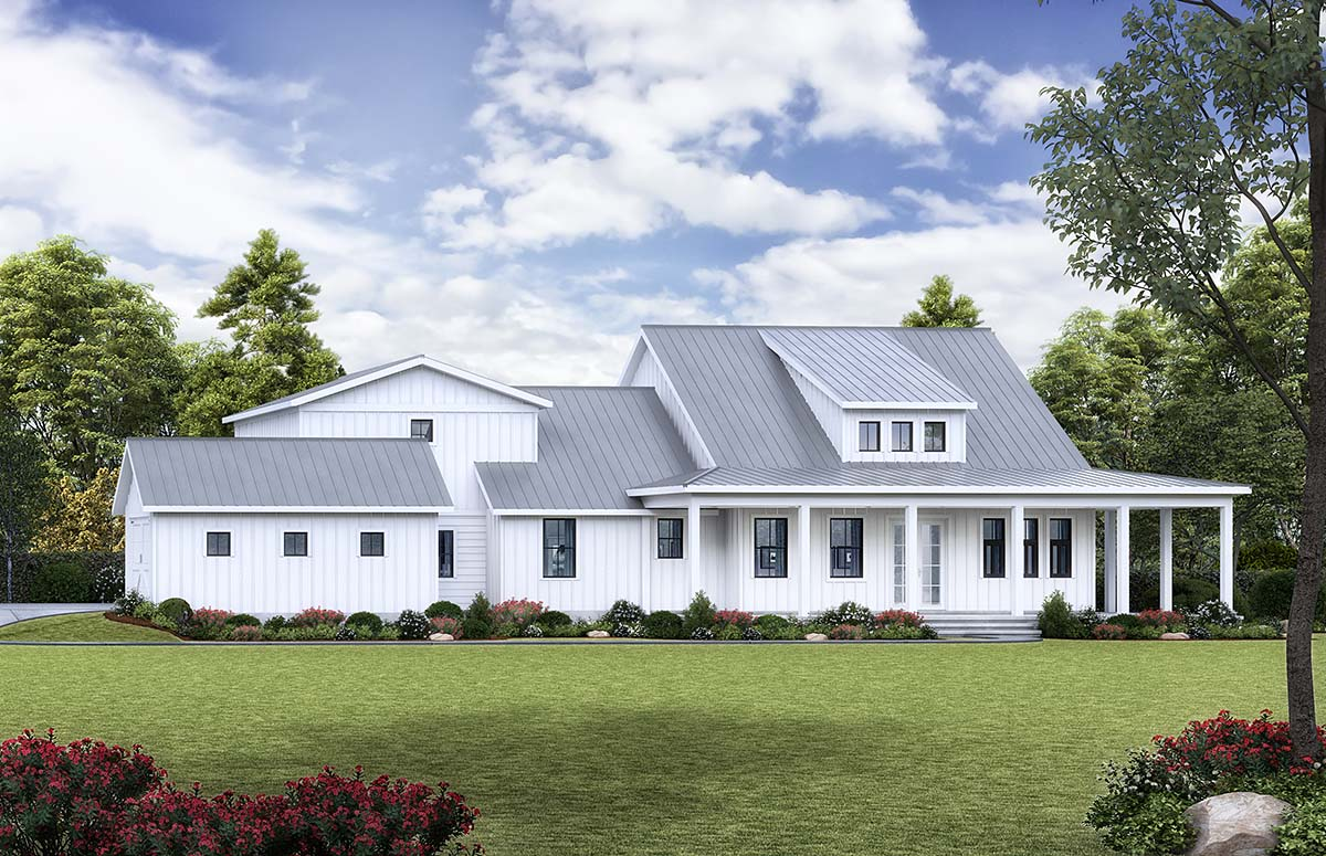 Country, Modern Farmhouse, Modern, Southern House Plan 97669 with 3 Beds , 3 Baths , 3 Car Garage Elevation