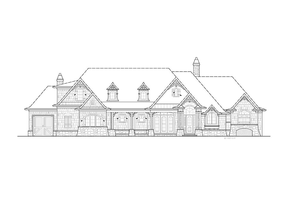 Country, Farmhouse, Southern House Plan 97677 with 4 Beds, 4 Baths, 3 Car Garage Picture 1