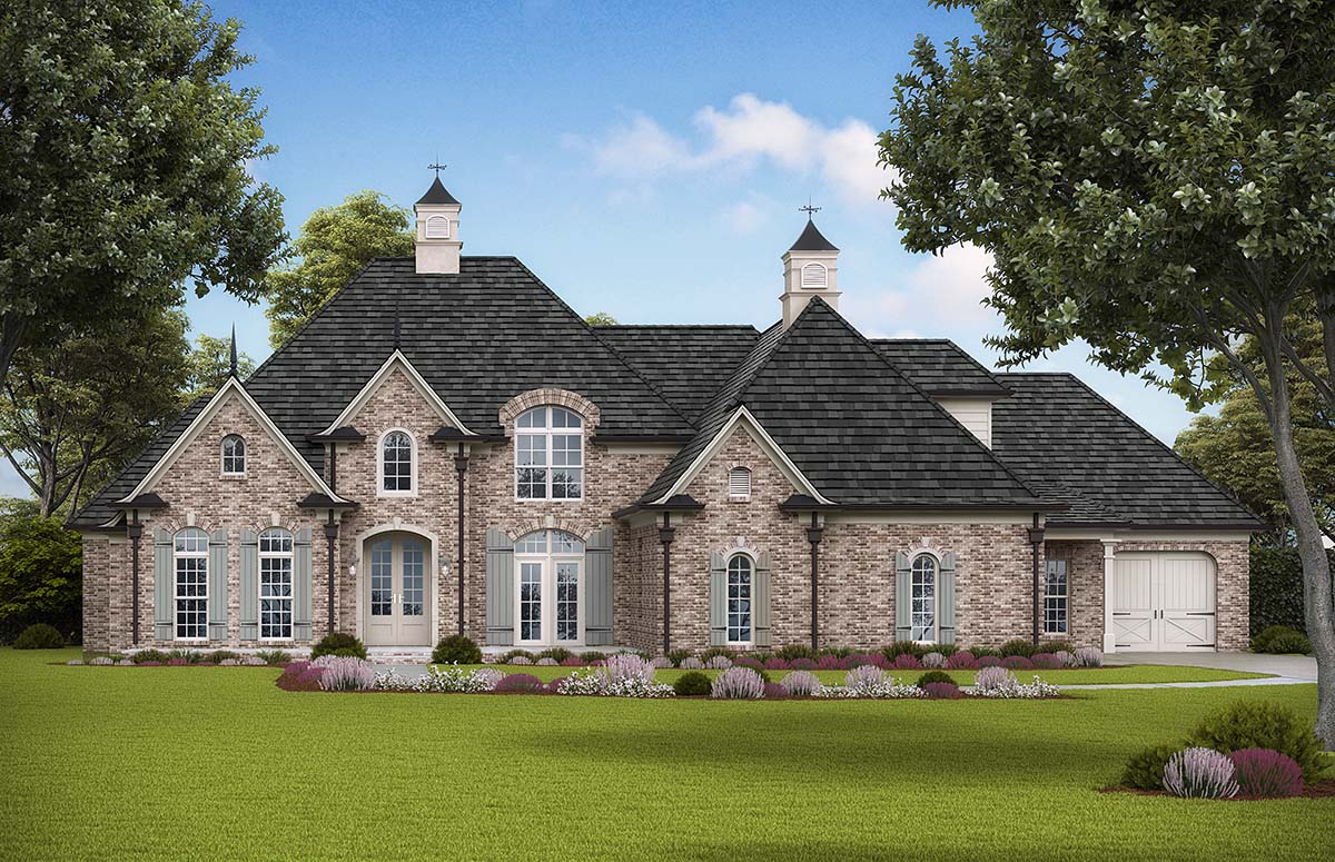 Traditional, Tudor House Plan 97681 with 4 Beds , 5 Baths , 3 Car Garage Elevation
