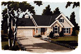 Bungalow , Ranch , Traditional House Plan 97702 with 3 Beds, 2 Baths, 2 Car Garage Elevation