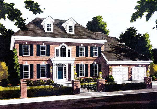 Colonial House Plan 97704 Elevation