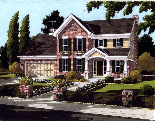 Bungalow Colonial Traditional House Plan 97707 Elevation