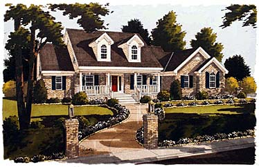 Cape Cod, Country House Plan 97709 with 3 Beds, 3 Baths, 2 Car Garage Elevation