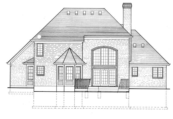 European Victorian House Plan 97710 Rear Elevation