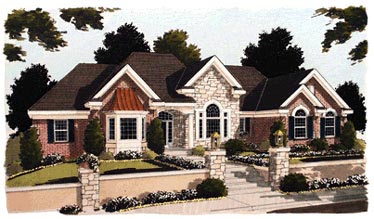 European House Plan 97714 Elevation