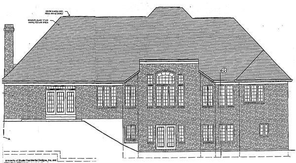 European House Plan 97714 Rear Elevation