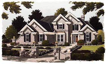 Traditional , Elevation of Plan 97715