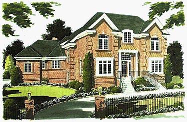 Colonial European House Plan 97716 Elevation