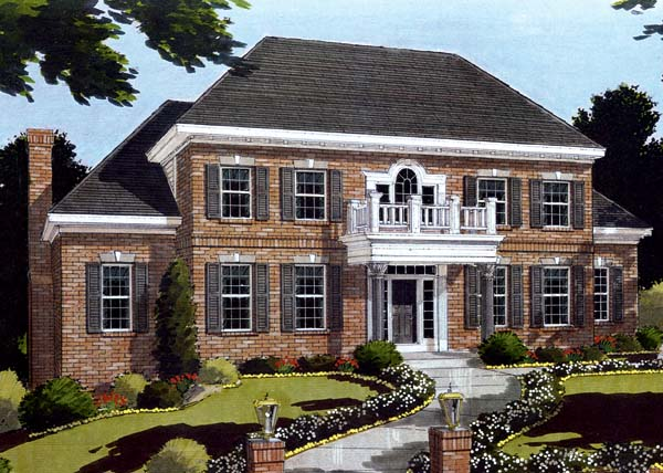 Colonial House Plan 97717 Elevation