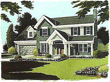 Bungalow, Colonial House Plan 97718 with 3 Beds , 3 Baths , 2 Car Garage Elevation