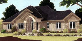 Bungalow European House Plan 97719 Elevation