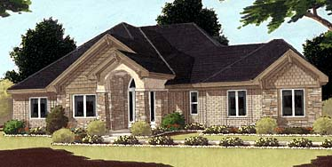 Bungalow European House Plan 97719 Elevation