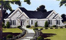 Bungalow , European House Plan 97720 with 3 Beds, 2 Baths, 2 Car Garage Elevation