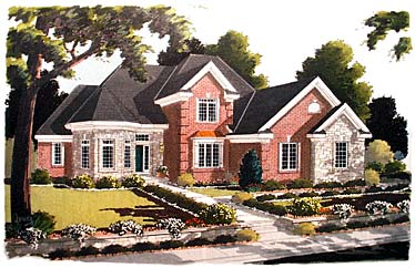 European Victorian House Plan 97721 Elevation