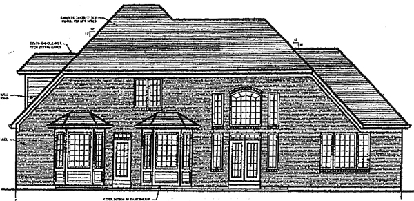European Victorian House Plan 97721 Rear Elevation