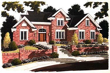 Tudor Elevation of Plan 97725