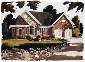 House Plan 97726 | European Victorian Style Plan with 2068 Sq Ft, 2 Bedrooms, 2 Bathrooms, 2 Car Garage Elevation