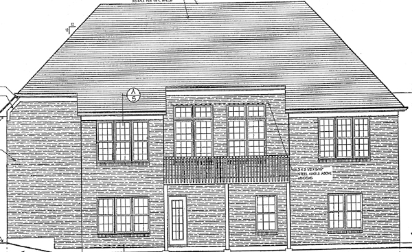 European Victorian House Plan 97726 Rear Elevation