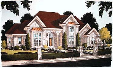 Bungalow European House Plan 97727 Elevation