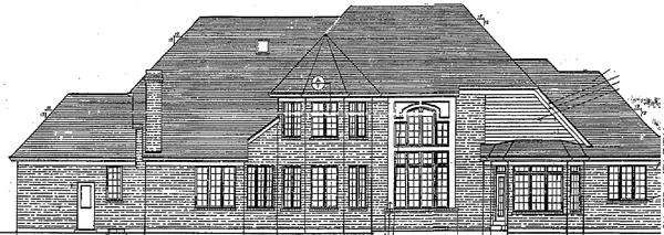 Bungalow European House Plan 97727 Rear Elevation