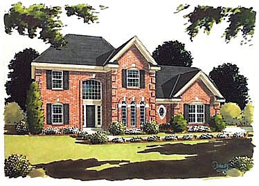 Traditional House Plan 97728 with 3 Beds, 3 Baths, 2 Car Garage Elevation