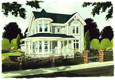 Farmhouse Victorian House Plan 97729 Elevation