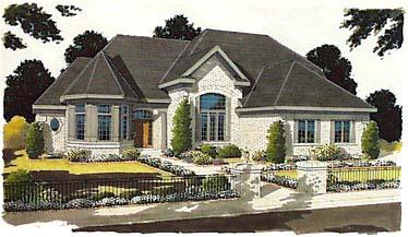 European Victorian House Plan 97734 Elevation