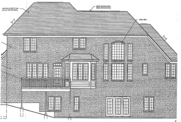 European Victorian House Plan 97734 Rear Elevation