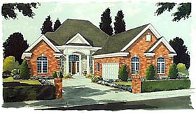 European , Colonial House Plan 97735 with 4 Beds, 4 Baths, 2 Car Garage Elevation