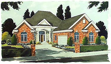 Colonial European House Plan 97735 Elevation