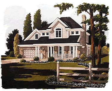 Country Farmhouse Traditional House Plan 97738 Elevation