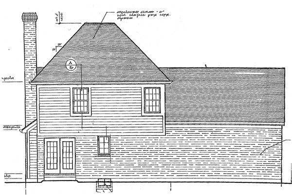 Country Farmhouse Traditional House Plan 97738 Rear Elevation