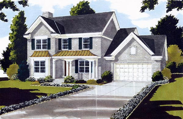Colonial Elevation of Plan 97739