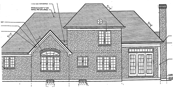 Traditional House Plan 97745 Rear Elevation