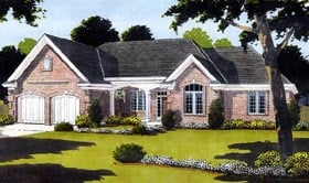 House Plan 97746 | European Style Plan with 2283 Sq Ft, 2 Bedrooms, 2 Bathrooms, 1 Car Garage Elevation
