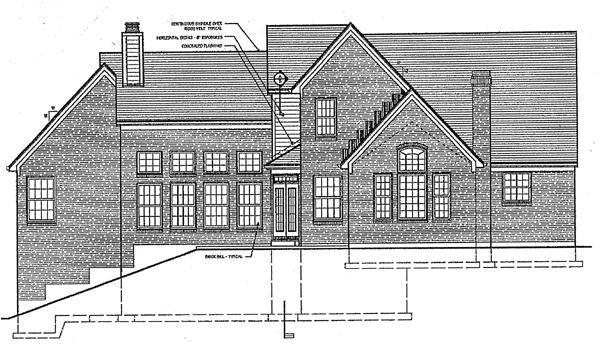 Traditional House Plan 97747 Rear Elevation