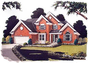 European Tudor House Plan 97748 Elevation