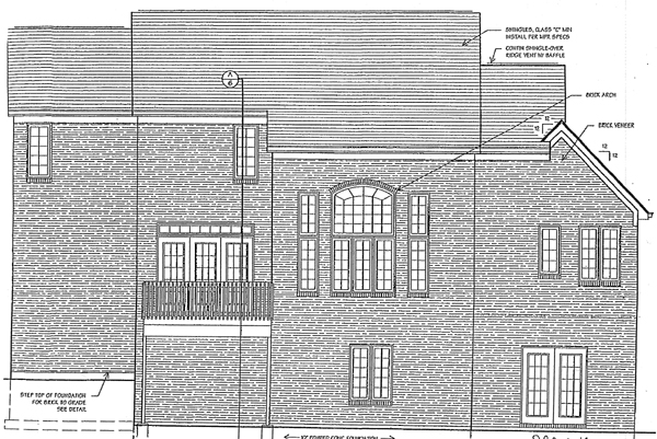 Colonial House Plan 97749 Rear Elevation