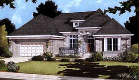 House Plan 97750 | European Style Plan with 2463 Sq Ft, 2 Bedrooms, 2 Bathrooms, 2 Car Garage Elevation