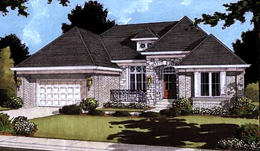 European House Plan 97750 Elevation